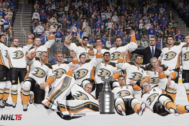 Le jeu vidéo NHL 15 croit que les Ducks d'Anaheim triompheront des... (Photo PC)