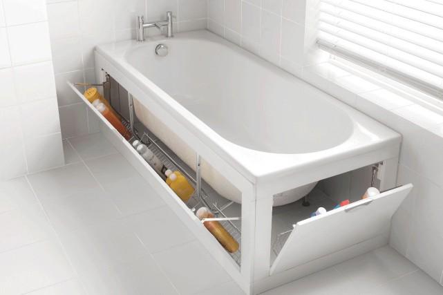 Le système de rangement proposé par Bathroom Heaven... (Photo tirée du site www.bathroomheaven.com)
