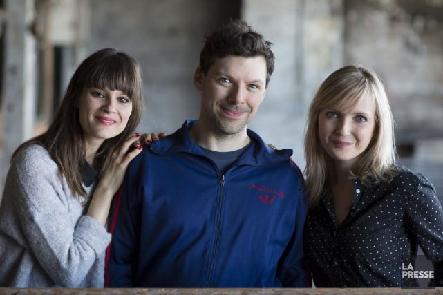 Stéphanie Lapointe, Simon Boulerice et Chloé Varin.... (Photo: Olivier Pontbriand, La Presse)