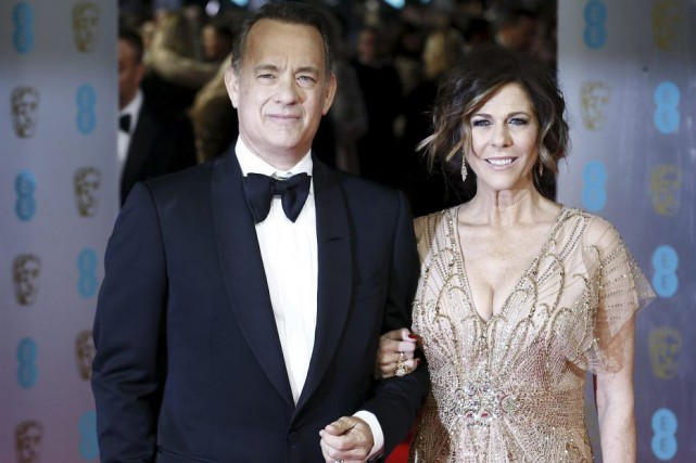 Tom Hanks et Rita Wilson... (Photo: archives AFP)