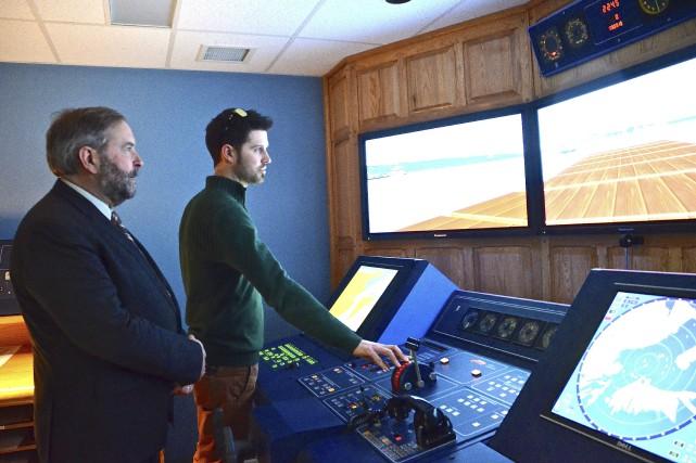 Le chef du NPD, Thomas Mulcair, a visité... (Collaboration spéciale Johanne Fournier)