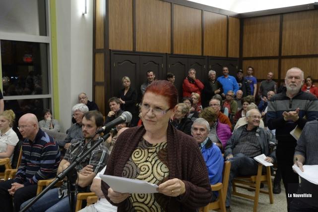 La porte-parole du regroupement Shawinigan citoyens avertis, Diane... (Photo: Sylvain Mayer Le Nouvelliste)