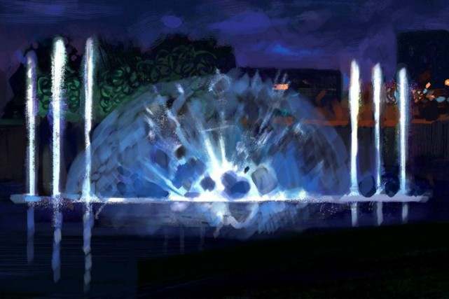 Un théâtre aquatique et une exposition faite à... (Courtoisie)