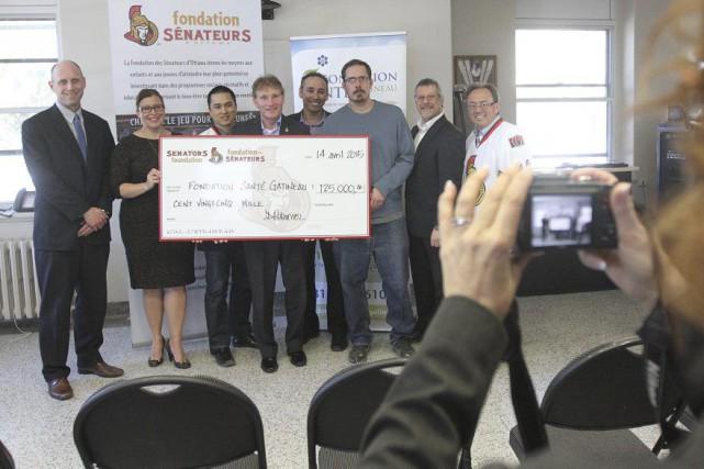 La Fondation desSénateurs d'Ottawaa annoncé, hier, l'octroi d'un don de 125... (Étienne Ranger, LeDroit)