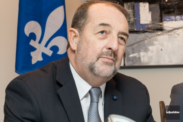 Denis Lebel, ministre fédéral des Infrastructures... (Photo d'archives Le Quotidien)