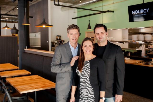 Les trois actionnaires: Michel Bellavance, Miriam et Nicolas... (Photo fournie par Nourcy)