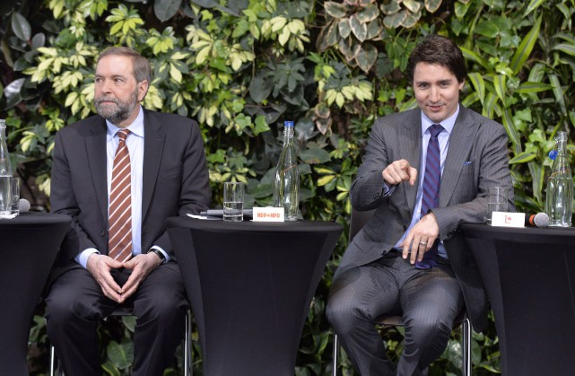Thomas Mulcair et Justin Trudeau... (Archives PC)