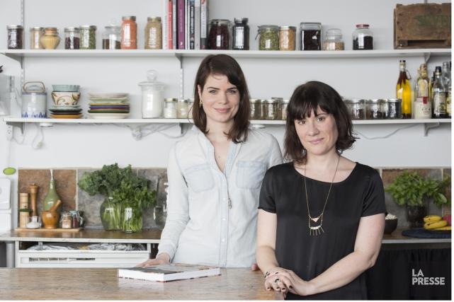 Émilie Villeneuve et Clémence Risler.... (Photo Edouard Plante-Fréchette, La Presse)