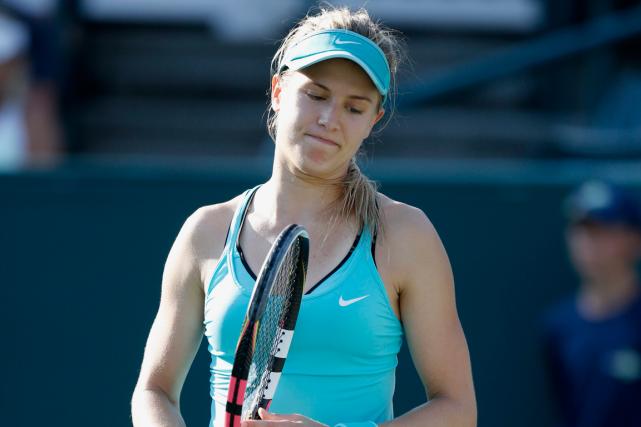 Eugenie Bouchardn'a pas gagné depuis le troisième tour... (Photo Mic Smith, archives AP)