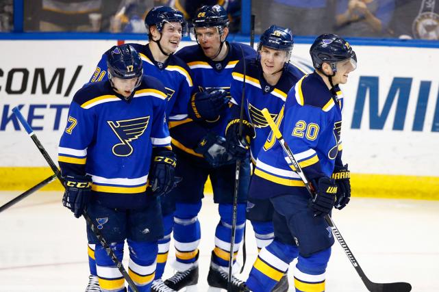 Les Blues de St. Louissont peut-être l'équipe comptant... (Photo Billy Hurst, archives USA Today)