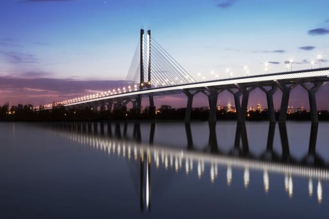 Le nouveau pont enjambera le fleuve Saint-Laurent de... (Photo fournie par Infrastructure Canada)