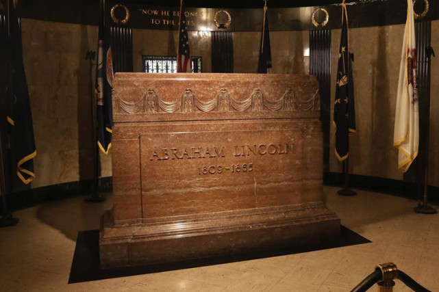Le tombeau d'Abraham Lincoln se trouve dans le... (Photo: AP)