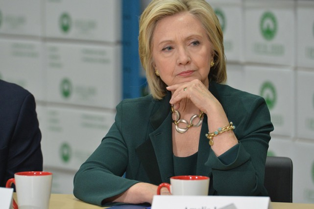 Hillary Clinton a participé mercredi à une table... (Photo: AFP)