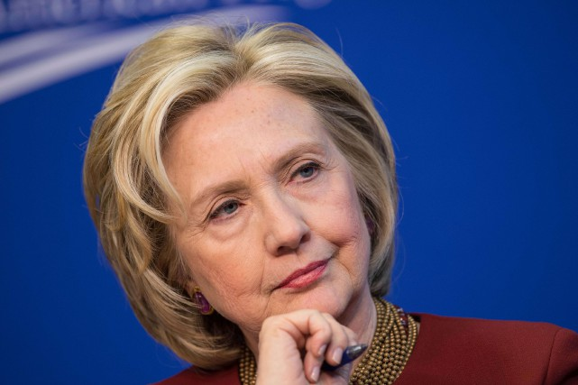 Hillary Clinton ne perd pas de temps :... (Photo NICHOLAS KAMM, archives Agence France-Presse)