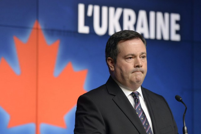 Le ministre de la Défense, Jason Kenney, a... (PHOTO LA PRESSE CANADIENNE)