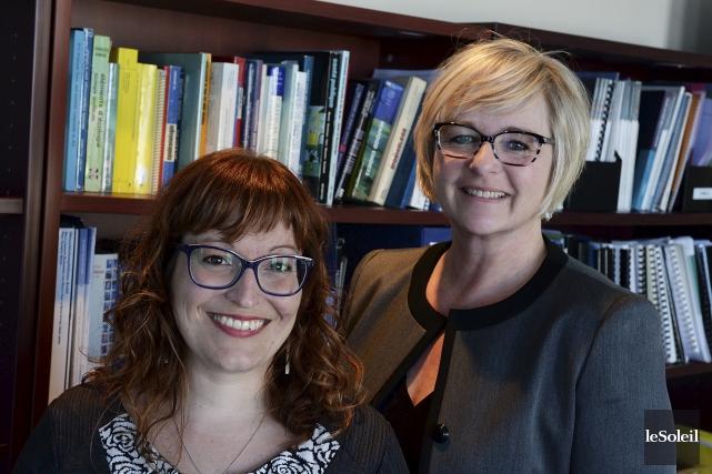 Les chercheuses Mélanie Lemire et Gina Muckle s'intéressent... (Le Soleil, Patrice Laroche)
