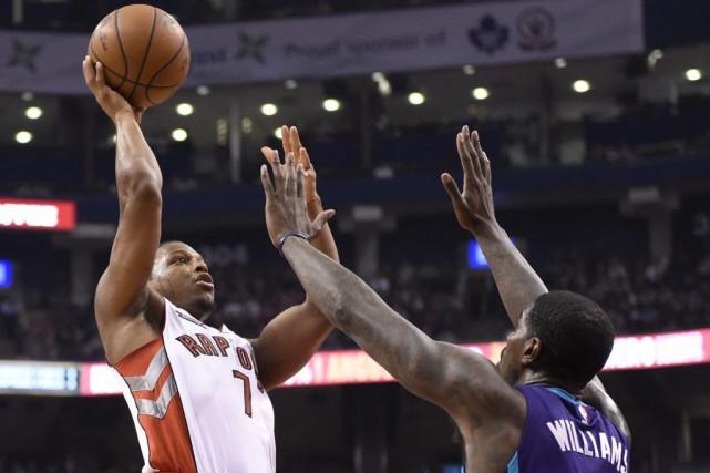 Kyle Lowry a inscrit 26 points et les Raptors de Toronto ont complété la saison... (Photo: PC)