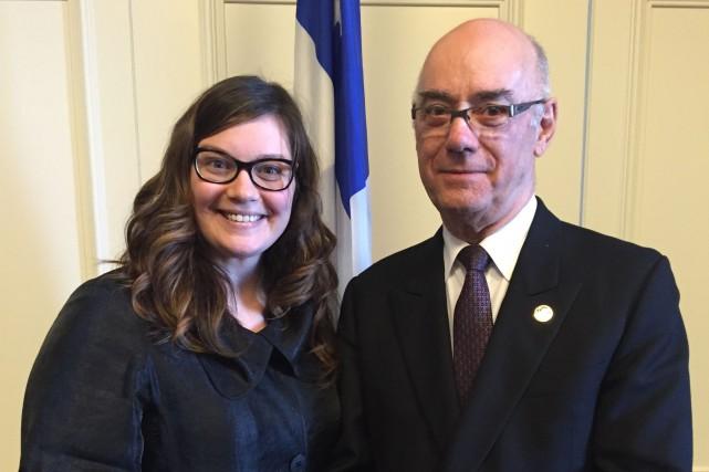 Le ministre Jacques Daoust et la députée Karine...