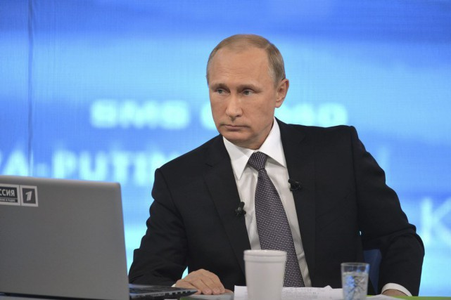 Interrogé lors d'une séance télévisée annuelle de questions-réponses... (Photo Alexei Druzhinin, AP)
