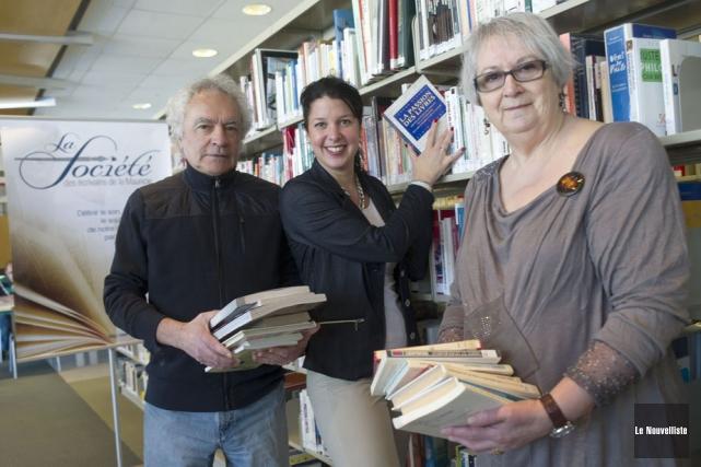Le metteur en scène, Gilles Devault, et l'organisatrice... (Photo: Stéphane Lessard, Le Nouvelliste)