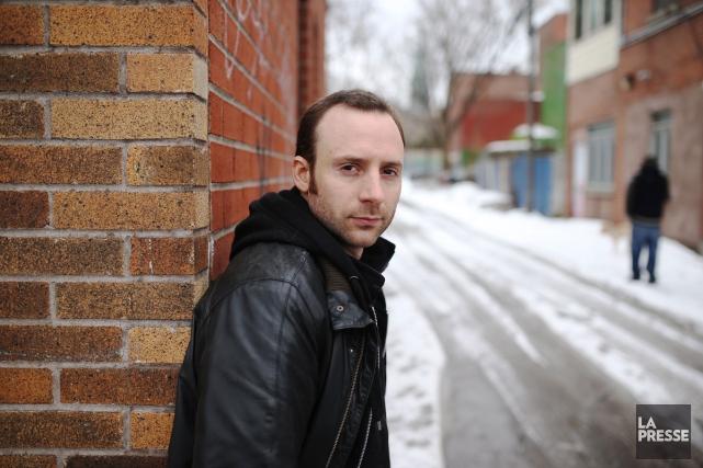 Maxime Raymond Bock publie son troisième livre, Des lames de pierre,... (Photo: Martin Chamberland, La Presse)
