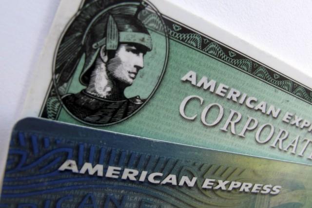 L'émetteur de cartes de crédit bancaires American Express a fait état jeudi... (Photo Mike Blake, Reuters)