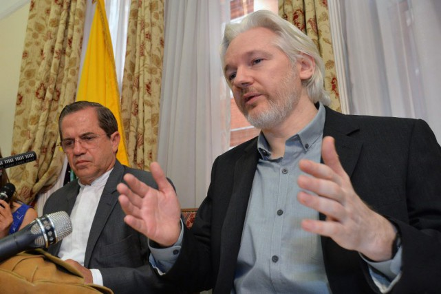 Julian Assange, le rédacteur-en-chef de WikiLeaks.... (PHOTO JOHN STILLWELL, ARCHIVES AP)