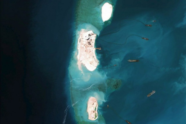 La Chine revendique la souveraineté de la plus... (Photo CSIS's Asia Maritime Transparency Initiative, Reuters)