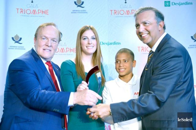 Finalistes dans leur catégorie respective, la taekwondoïste Charlotte... (Photothèque Le Soleil, Jean-Marie Villeneuve)