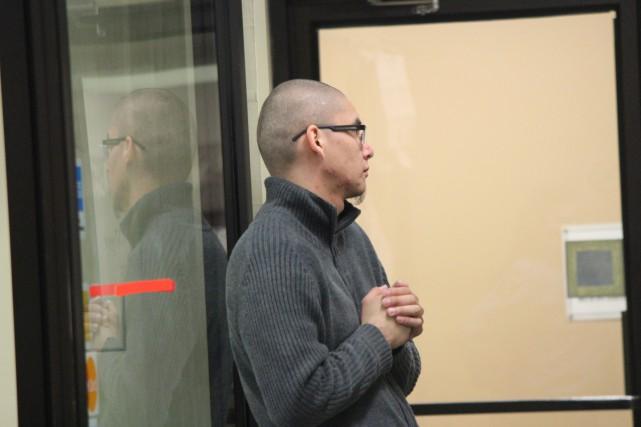 L'accusé Alain Bellemare était de passage devant le... (Photo: Audrey Tremblay)