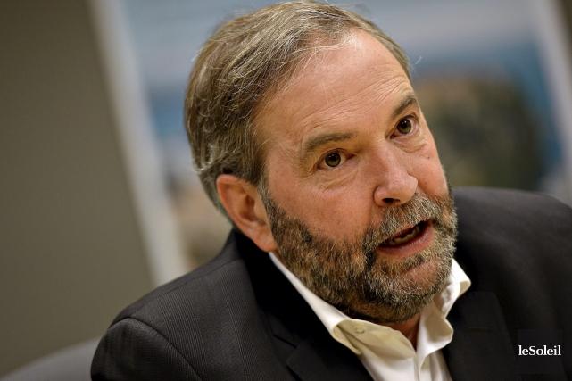 Le chef du NPD, Thomas Mulcair... (Photothèque Le Soleil, Patrice Laroche)