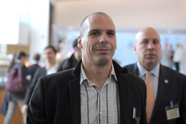 Le ministre grec des Finances, Yanis Varoufakis, a... (PHOTO ERIC PIERMONT, AFP)