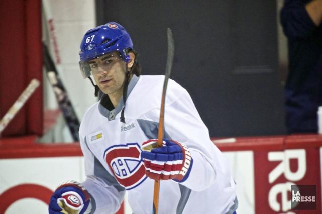 Max Pacioretty a bien paru à l'entraînement, hier.... (PHOTO ANDRÉ PICHETTE, LA PRESSE)