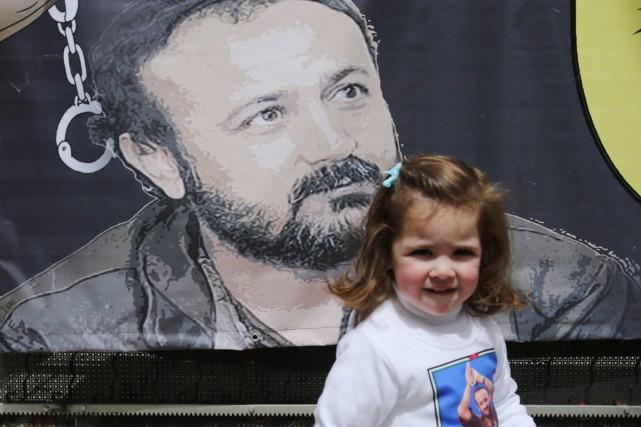 La petite-fille du leader palestinien Marouane Barghouti, purgeant... (PHOTO ABBAS MOMANI, AFP)