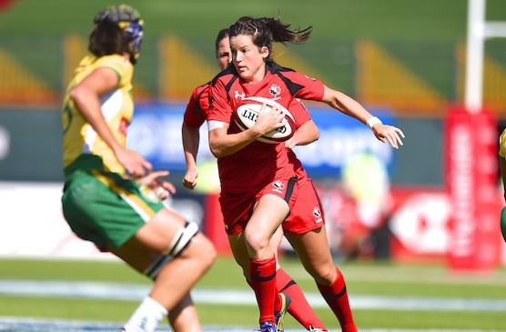 Elissa Alarie a amorcé trois des quatre tournois... (Photo: Rugby Canada)