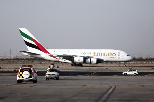 Emirates est le plus important client du très... (PHOTO ARCHIVES AFP)