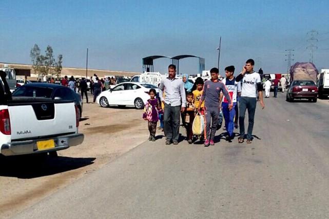 L'OCHA précise que 9000 personnes ont dû fuir... (PHOTO ARCHIVES AP)