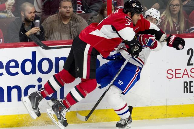 La rivalité entre Brandan Gallagher et Marc Méthot... (PHOTO ADRIAN WYLD, ARCHIVES LA PRESSE CANADIENNE)