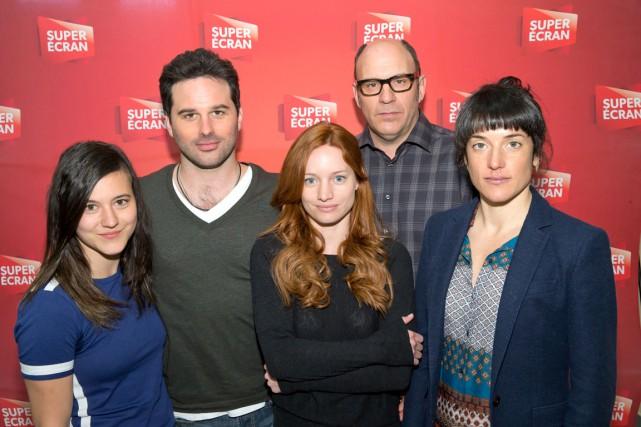 Catherine Brunet, Éric Robidoux, Laurence Leboeuf, Sylvain Marcel... (Photo fournie par Super Écran)