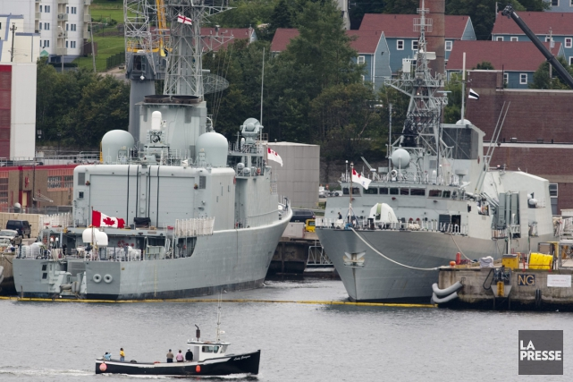 Une base militaire canadienne, à Halifax.... (Photo archives La Presse Canadienne)