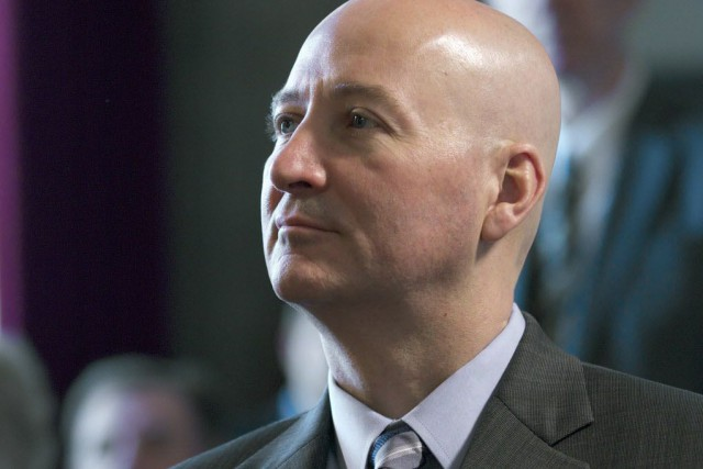 Le gouverneur républicain Pete Ricketts... (Photo Nati Harnik, AP)