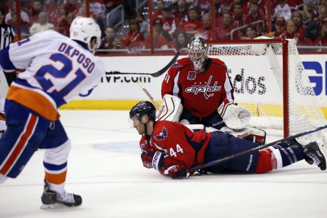 Nicklas Backstrom a amassé un but et deux aides, Alex Ovechkin a touché la... (Photo AP)