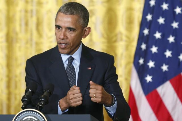 Le président américain Barack Obama... (Photo Jonathan Ernst, Reuters)