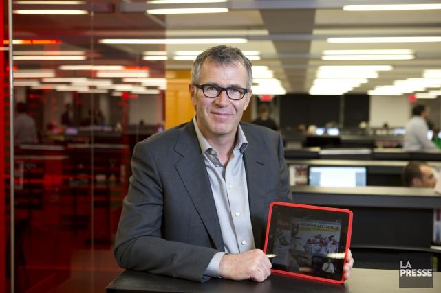 Guy Crevier, président et éditeur deLa Presse... (PHOTO ALAIN ROBERGE, LA PRESSE)