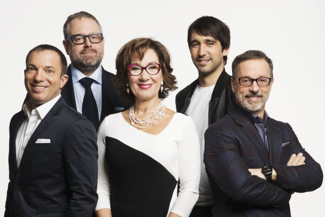 Mitch Garber, Alexandre Taillefer, Danièle Henkel, Martin-Luc Archambault... (Photo fournie par Radio-Canada)