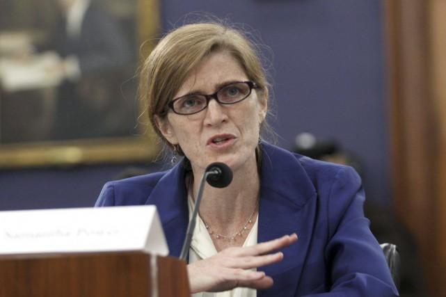 Samantha Power, représentante américaine à l'ONU... (PHOTO LAUREN VICTORIA BURKE, AP)