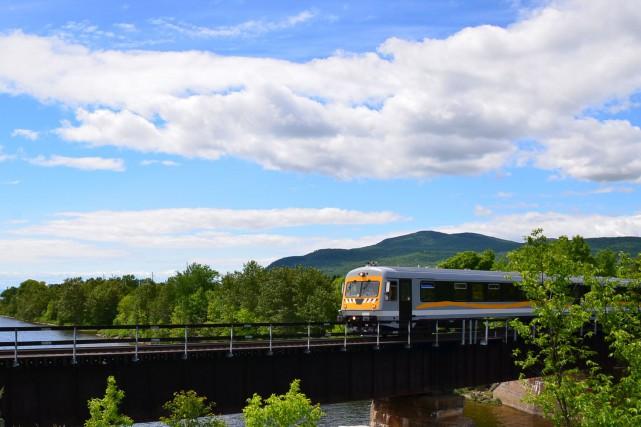 Le Train léger de Charlevoix prend la place... (Photo fournie par Réseau Charlevoix)
