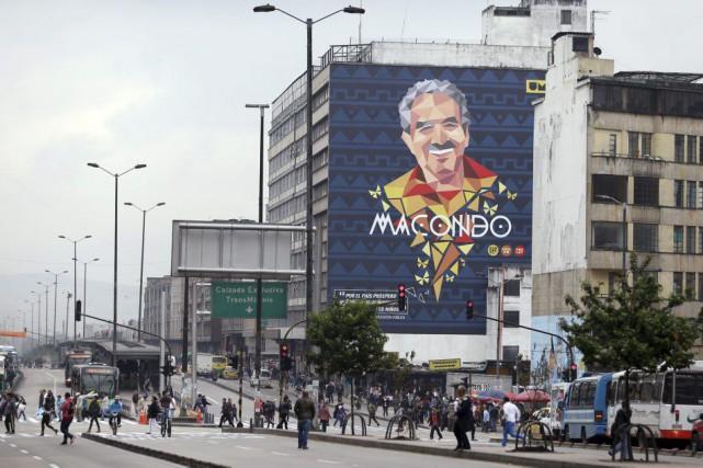 Une murale à l'effigie de Gabriel Garcia Marquez... (Photo Fernando Vergara, AP)