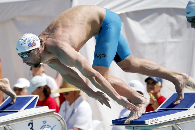 Michael Phelps à Mesa, samedi.... (Matt York)
