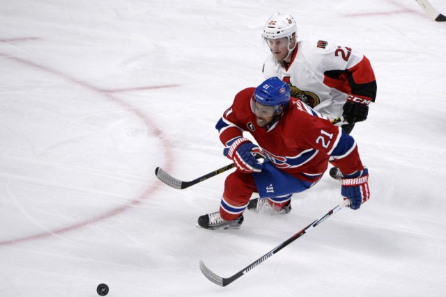 Devante Smith-Pelly lors du march de vendredi soir... (Photo Eric Bolte, USA Today Sports)